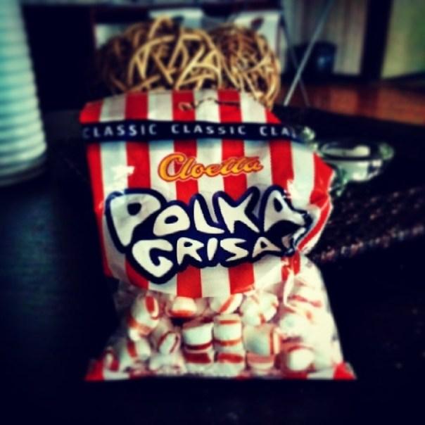 Lyckliga mig!Att hitta en påse polkagrisar i skåpet är ren och skär lycka!#candy #nexus5 #snapseed