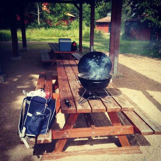 Lite grill vid Läckö slott!