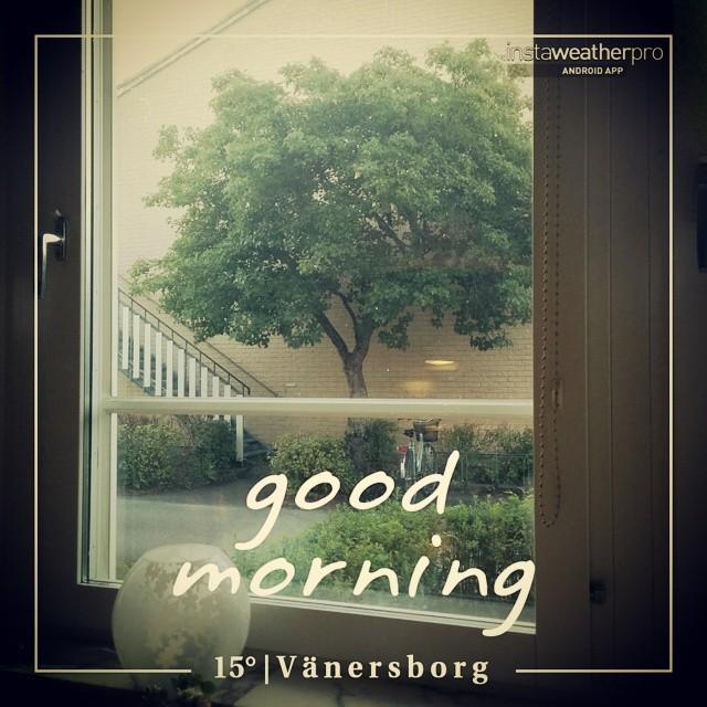 God morgon! Då var semestern slut för den här gången! Nu längtar jag till Jul! #instaweather #instaweatherpro #weather #wx #android  #vänersborg #sverige #day #summer #clear #morning #se