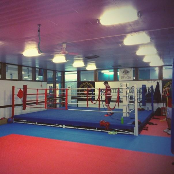 Är i Skoftebyns boxningslokal. Mellansnigel ska träna. #boxing #boxning