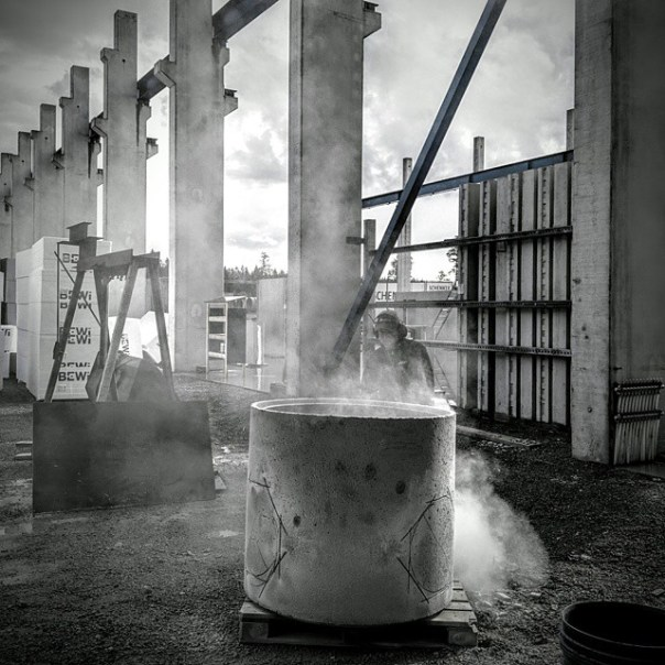 Another day at the factory! #concrete #factory #nexus6 #blackandwhite