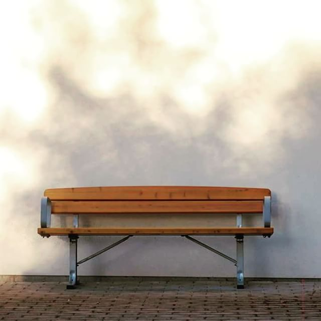 Empty bench. #urban #stylish
