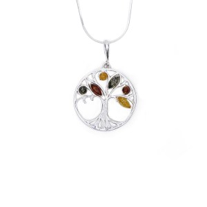 """""""Tree of Life"""" necklace with Baltic amber"""