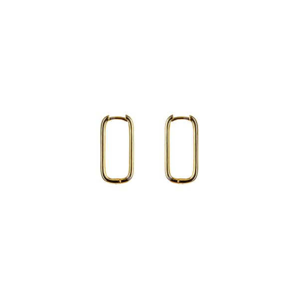 Gold rectangular earrings