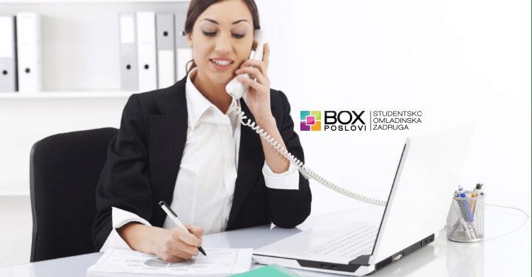 Studentsko omladinska zadruga BOX Poslovi - Poslovni asistent