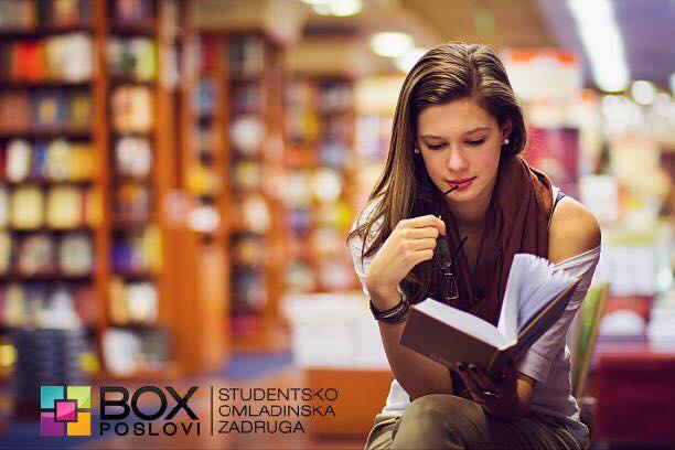 Potrebna radnica do 26 godina starosti za rad u poznatoj knjižari u centru Niša. Opis posla: - usluga i rad sa kupcima - prodaja knjiga - rad za kasom