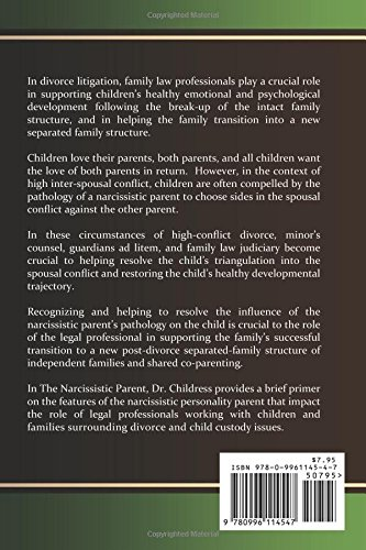 The Narcissistic Parent A Guidebook for Legal Professionals