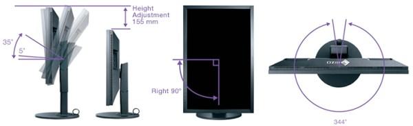 pied ergonomique écran graphique eizo coloredge cs2730