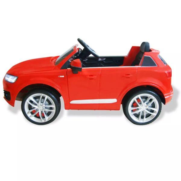 vidaXL Elektrisk åkbil Audi Q7 röd 6 V