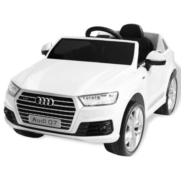 vidaXL Elektrisk åkbil Audi Q7 vit 6 V