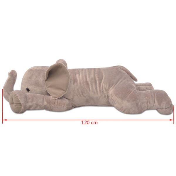 vidaXL Gosedjurselefant plysch XXL 120 cm