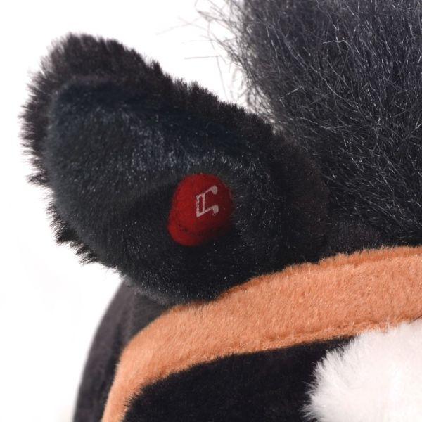 vidaXL Stående leksakshäst plysch svart