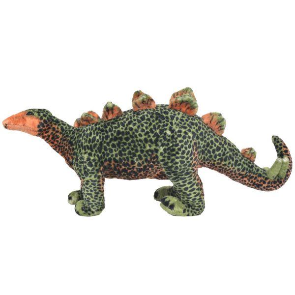 vidaXL Stående leksak stegosaurus plysch grön och orange XXL