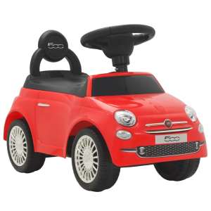 vidaXL Åkbil Fiat 500 röd