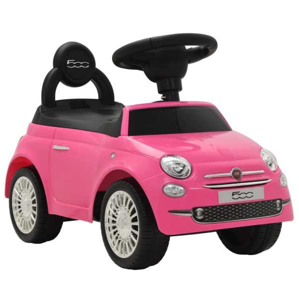 vidaXL Åkbil Fiat 500 rosa