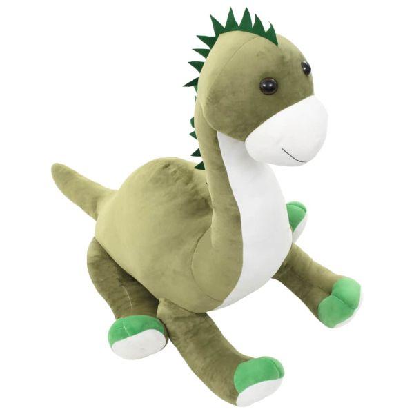 vidaXL Gosedjur brontosaurus plysch grön