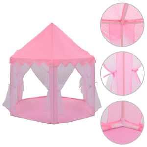 vidaXL Lektält prinsessa rosa