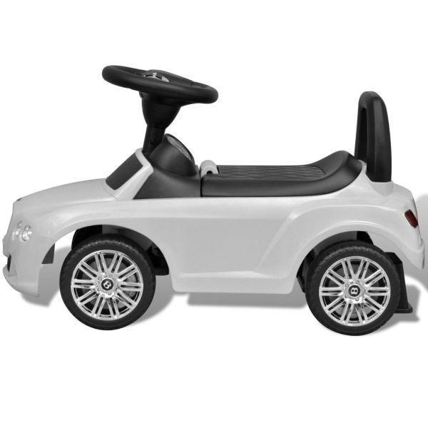 Trampbil för barn Bentley vit
