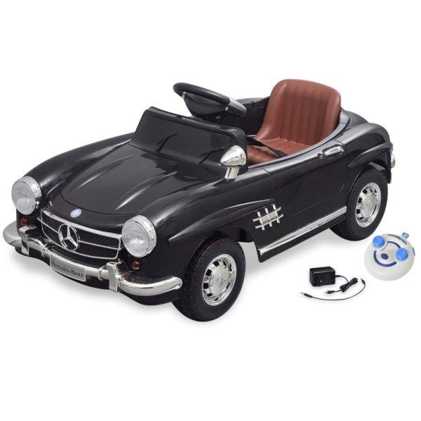 Elbil för barn Mercedes Benz 300SL med fjärrkontroll svart 6 V