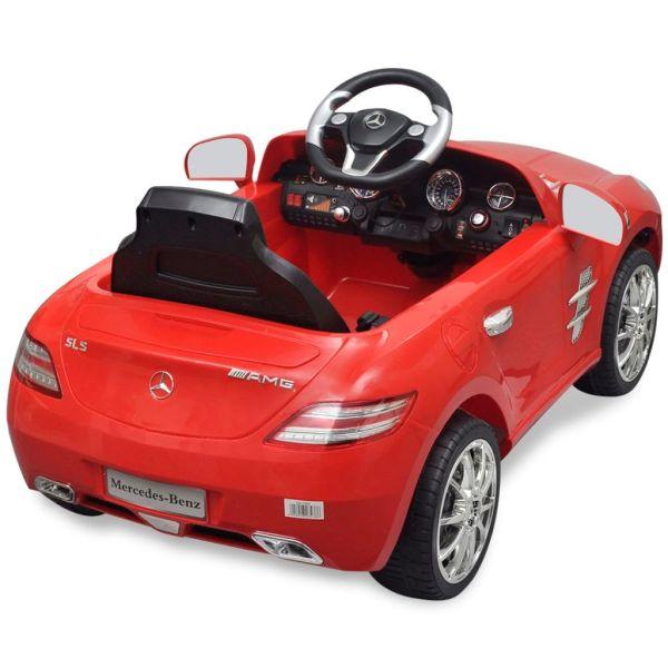 Elbil för barn Mercedes Benz SLS AMG med fjärrkontroll röd 6 V