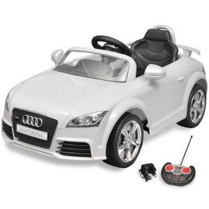 Elbil för barn Audi TT RS med fjärrstyrning vit