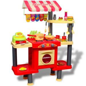 Stort leksakskök för barn med ljud och ljus