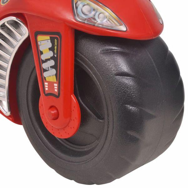vidaXL Gåmotorcykel Plast Röd