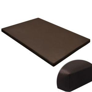 Hundmatta platt fyrkantig brun strl. M