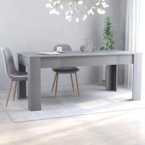 vidaXL Matbord grå 180x90x76 cm spånskiva
