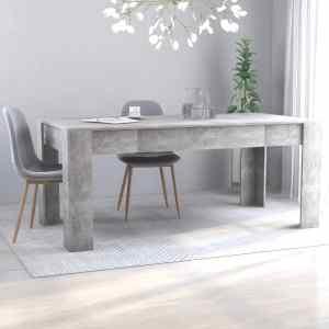 vidaXL Matbord betonggrå 180x90x76 cm spånskiva