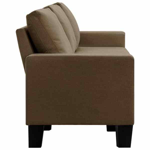 vidaXL 5-sitssoffa brun tyg