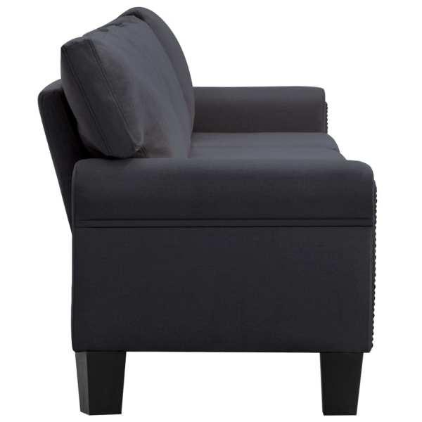vidaXL 5-sitssoffa mörkgrå tyg