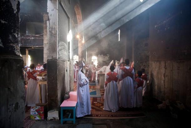 Koptischer Gottesdienst in einer Kirche der Stadt Delga, Provinz Minya, am 22. September.