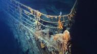 Im Meer: Das Wrack der Titanic, hier der Bug, wurde 1985 in rund 3800 Meter Tiefe entdeckt.