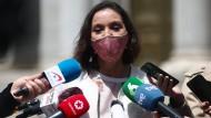 Die spanische Ministerin Reyes Maroto am 26. April in Madrid