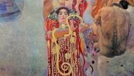 """Das Fakultätsbild """"Medizin"""" von Gustav Klimt, digital neu aufgelegt und koloriert von Google Arts & Culture."""