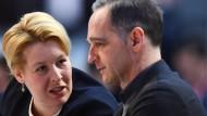 Beide in den Parteivorstand gewählt: Familienministerin Franziska Giffey, Außenminister Heiko Maas