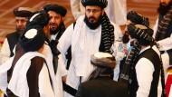 Vertreter der Taliban bei den innerafghanischen Gesprächen in der qatarischen Hauptstadt Doha Mitte September 2020