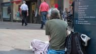 Ein Obdachloser in Bremen