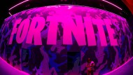 """Das Logo des Videospiels """"Fortnite"""" auf einer Messe in Los Angeles im vergangenen Jahr"""