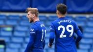 Zwei der teuersten Transfers des Sommers: Die deutschen Nationalspieler Timo Werner und Kai Havertz sind zum FC Chelsea gewechselt.