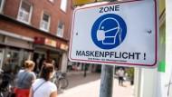 Maskenpflicht in Emden.