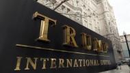 Schild vor dem Trump Hotel in Washington, 21. Dezember 2016