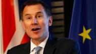 Bemüht, die deutsch-britische Freundschaft zu betonen: Außenminister Jeremy Hunt am Mittwoch in Berlin