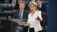 Straßburg: Die CDU-Politikerin Ursula von der Leyen bei ihrer Rede vor dem EU-Parlament