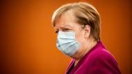 Bundeskanzlerin Merkel am Mittwoch im Kanzleramt
