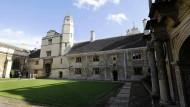 Noch leerer als sonst: Der Rasen in Cambridge