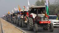 Nationalfeiertag in Indien: Mit einer Traktorparade gegen Modi