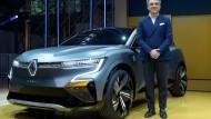Renault-Chef Luca de Meo bei der Vorstellung des Megane eVision am 15. Oktober in der Nähe von Paris