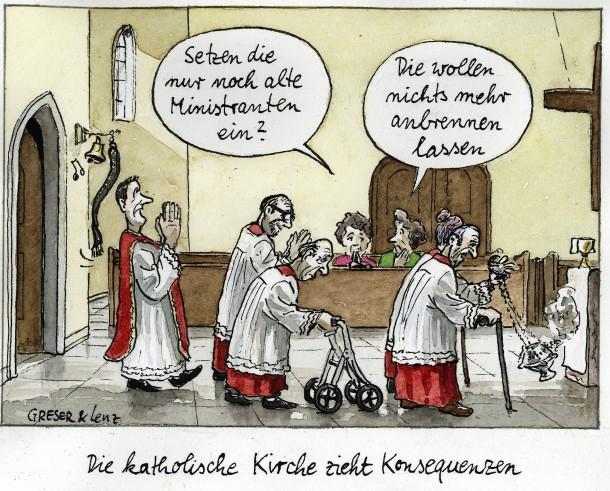 Cartoons Jugendkirche Portal